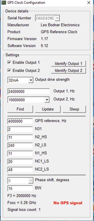 Precision GPS Reference Clock [GPS-CLOCK] - 150 00GBP : Leo Bodnar